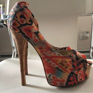 Chinese Laundry peep toe stilettos